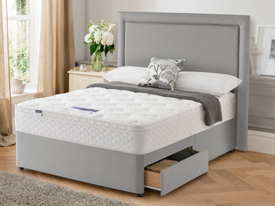 Silentnight Mirastar Memory Deluxe 6FT Superking Divan Bed
