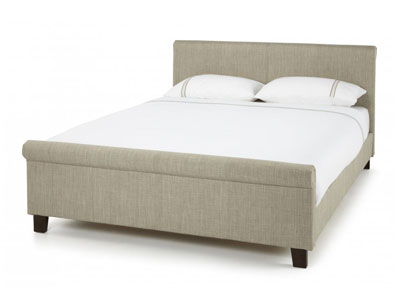 Serene Hazel  Fabric Bed  - Linen