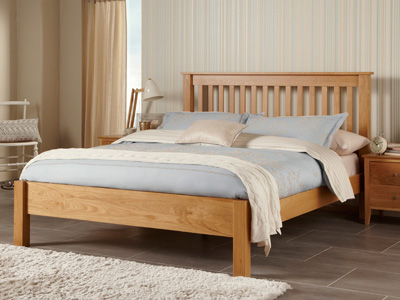 Serene Lincoln 4FT 6 Double Wooden Bedstead