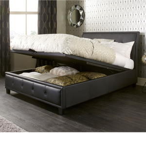 Serene Catania 4FT Small Double Leather Ottoman Bedstead