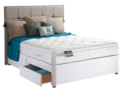 Sealy Pearl Geltex 4FT Small Double Divan Bed