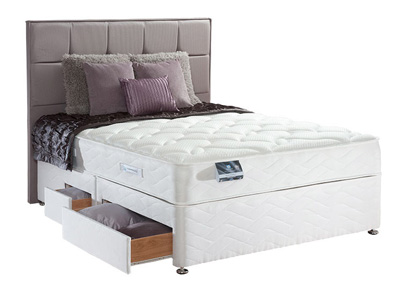 Sealy Pearl Memory 5FT Kingsize Divan Be