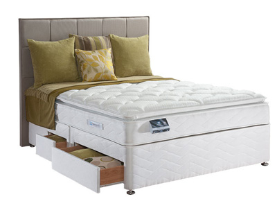 Sealy Pearl Luxury 4FT 6 Double Divan Bed