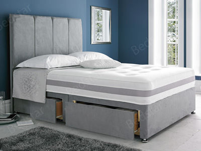Giltedge Beds Solo Memory Zip & Link 6FT Superking Divan Bed