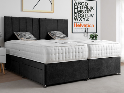 Giltedge Beds Silk 1000 Zip & Link 6FT Superking Divan Bed