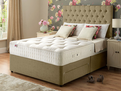 Rest Assured Wetherall Latex 1400 4FT 6 Double Divan Bed
