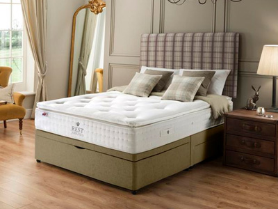 Rest Assured Knowlton 2000 Latex 5FT Kingsize Divan Bed