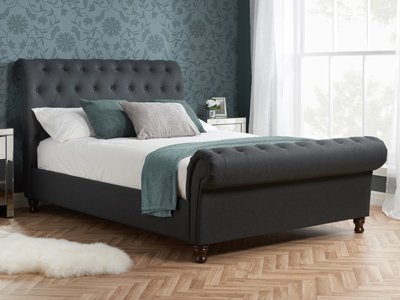 Birlea Castello 5FT Kingsize Fabric Bedframe - Charcoal