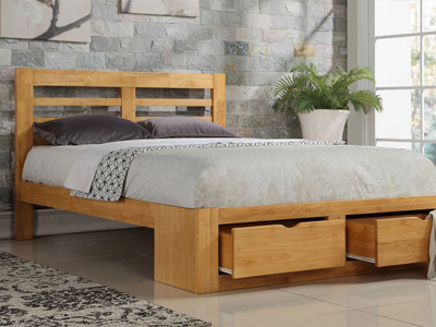 Flintshire Bretton 5FT Kingsize Wooden Bedstead - Oak
