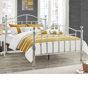 Birlea Victoria 4FT 6 Double Metal Bedstead - Chrome