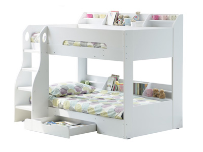 Flair Flick  Wooden Bunk Bed - White