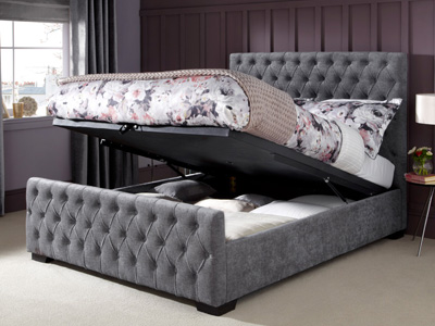 Serene Lillian 4FT 6 Double Fabric Ottoman Bed