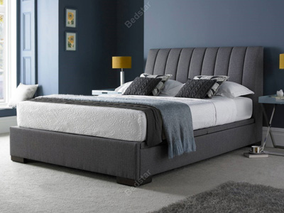 Kaydian Design Lanchester 4FT 6 Double Ottoman Bed - Grey