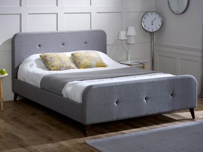 Limelight Beds Tucana  Fabric Bed  - Ash