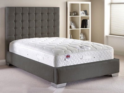 Aspire Furniture Copella 4FT Small Double Fabric Bedframe - Chenille Fabric