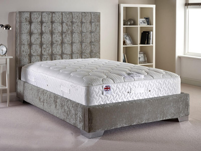Aspire Furniture Copella 4FT Small Double Fabric Bedframe - Velvet Fabric