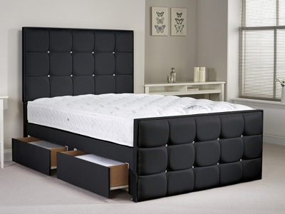 Aspire Furniture Henderson 3FT Single Leather Bedframe