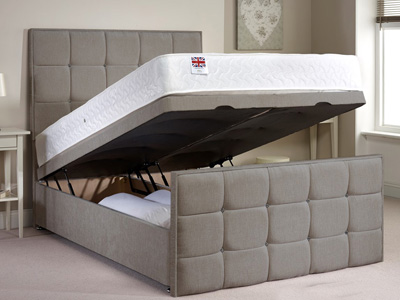 Aspire Aston 5FT Kingsize Fabric Ottoman Bed