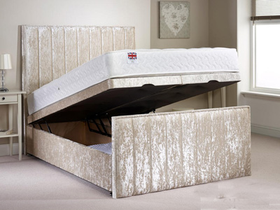 Aspire Furniture Peacehaven 6FT Superking Fabric Ottoman Bed