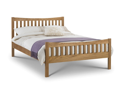 Julian Bowen Bergamo 5FT Kingsize Solid Oak Bedframe