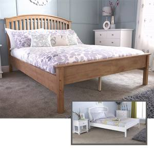 Milan Bed Company Madrid Low 5FT Kingsize Wooden Bedstead