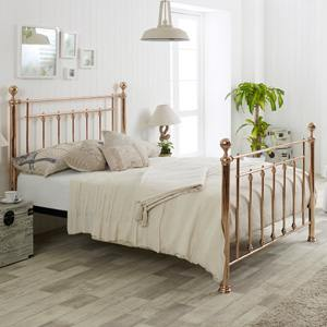 Limelight Beds Libra 4FT 6 Double Metal Bedstead - Rose Gold