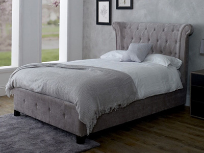 Limelight Epsilon 6FT Superking Fabric Bedstead - Mink