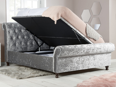 Birlea Castello 6FT Superking Ottoman Bed - Steel