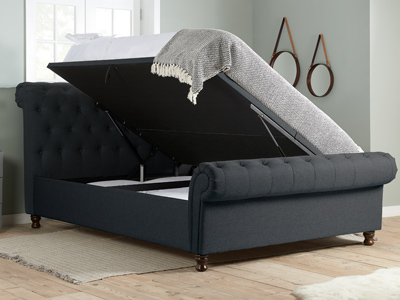 Birlea Castello 4FT 6 Double Ottoman Bed - Charcoal