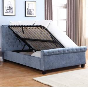 Flair Lola 4FT 6 Double Ottoman Bed - Blue