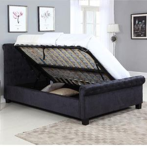 Flair Lola 4FT 6 Double Ottoman Bed - Black