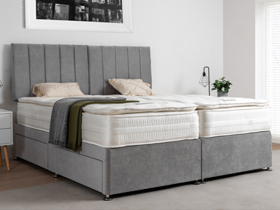 Giltedge Beds Sardinia 2000 Zip & Link 5FT Kingsize Divan Bed