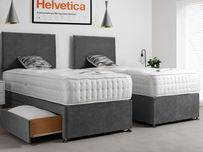Giltedge Beds Waddington 1500 Zip & Link 6FT Superking Divan Bed