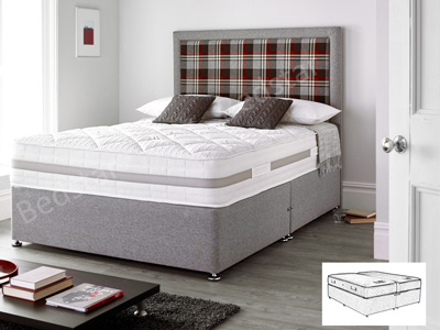Giltedge Beds Clayton 3000 Zip & Link 6FT Superking Divan Bed