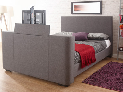 Milan Bed Company Newark 4FT 6 Double TV Bed - Grey