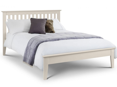 Julian Bowen Salerno 5FT Kingsize Wooden Bedstead - White