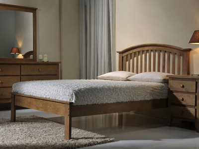 Flintshire Leeswood 4FT 6 Double Wooden Bedstead
