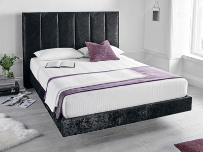 Kaydian Design Clarice 5FT Kingsize Fabric Bedframe - Black