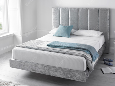 Kaydian Design Clarice 5FT Kingsize Fabric Bedframe - Silver