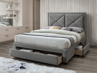 Limelight Beds Cezanne 5FT Kingsize Fabric Bed - Grey