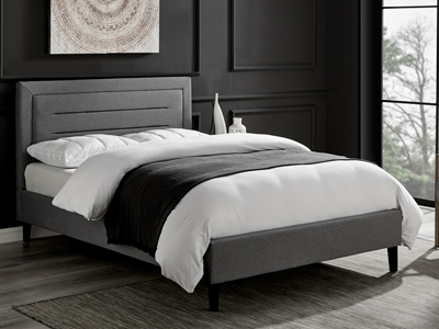 Limelight Beds Picasso 5FT Kingsize Fabric Bedframe - Grey