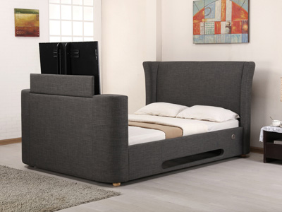 Artisan Audio 5FT Kingsize TV Bed - Grey