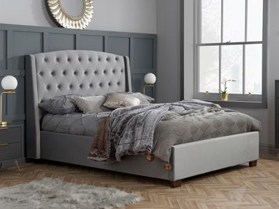 Birlea Balmoral 6FT Superking Fabric Bedframe - Grey