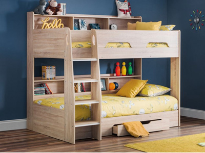 Julian Bowen Orion  Wooden Bunk Bed - Sonoma Oak