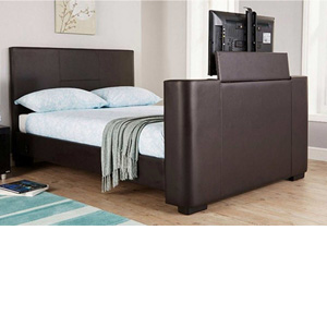 Milan Bed Company Newark 5FT Kingsize TV Bed - Brown