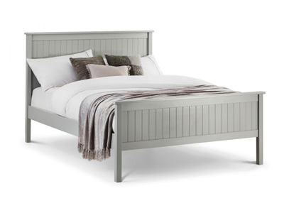Julian Bowen Maine 5FT Kingsize Wooden Bedstead - Dove Grey