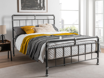 Flintshire Cilcain 4FT 6 Double Metal Bedstead - Silver