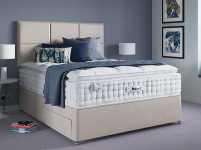 Relyon Classic Pillowtop 2300 Elite 4FT Small Double Divan Bed