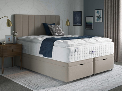 Relyon Classic Pillowtop 2800 Elite 4FT Small Double Divan Bed