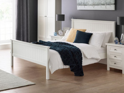 Julian Bowen Maine 5FT Kingsize Wooden Bedstead - Surf White